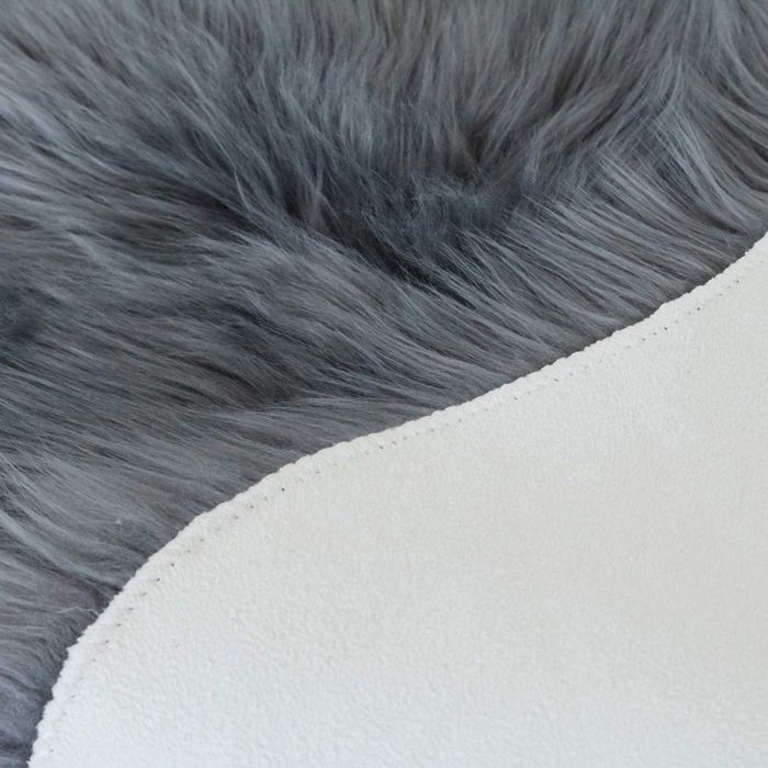 Muslera Collection Faux Fur Rugs in Dark Grey | The-Rugs
